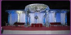 Ever so often I come across some amazing indian wedding or indian reception stage decorations. These are a few of my favourite indoor and o. Indian Wedding Decorations, Reception Decorations, Baby Shower Decorations, Indian Reception, Wedding Reception, Outdoor Stage, Outdoor Decor, Wedding Entrance, Wedding Planners