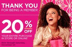 Ulta 20% off entire purchase + more