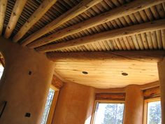 vigas and latillas...yes the ceiling is important! gorgeous home in the Sangre de Cristos