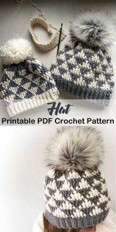 fai questo cappello oggi! modelli di cappelli invernali all uncinetto -  schema uncinetto pdf 1b95a58b139c