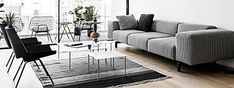 ¿Cómo crear una base decorativa atemporal que se adapte a las tendencias? Beautiful Homes, Couch, Base, Furniture, Home Decor, Off White Walls, Open Spaces, Flooring, Flats