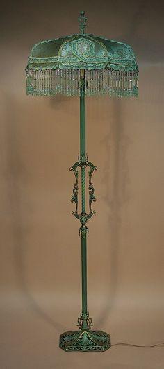 Painted metal floor lamp.                                                                                                                                                                                 More