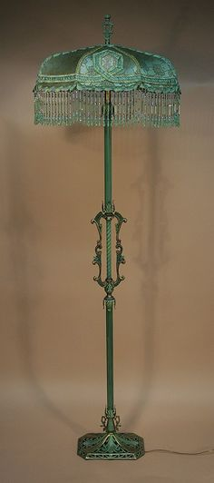 Painted metal floor lamp. More