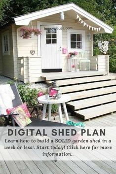 Get the best deals on Building & Plans Shed Blueprints when you shop the largest online ... Craftsman style storage shed plans and guide digital format. Kids Cubby Houses, Play Houses, Tree Houses, Cozy Cottage, Cottage Style, Casas Shabby Chic, Wendy House, She Sheds, Cabins And Cottages