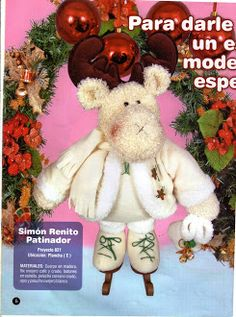 Foto: Reno, Teddy Bear, Diy, Album, Animals, Handmade Christmas Crafts, Step By Step, Crafts, Do It Yourself