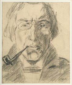 Self Portrait with Pipe | Nikolai Astrup