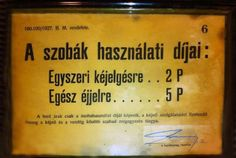 Ilyen is volt Budapest - a Pengő vásárlóereje egy szállodában.