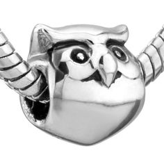 european beads Authentic Pugster  owl by CookalasHouseOfCards, $3.00