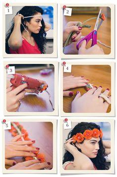 DIY flower headband...hobby lobby and micheals has the best fake flowers