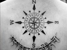 oldcompass 23 Cheerful Compass Rose Tattoo Ideas