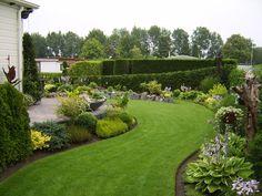 Mijn tuin Landscape Design, Garden Design, Garden Ideas Uk, Outdoor Shutters, House Yard, Outdoor Living, Outdoor Decor, Lush Green, Shade Garden