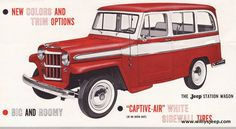 Willys Jeep - The Jeep station wagon in red!