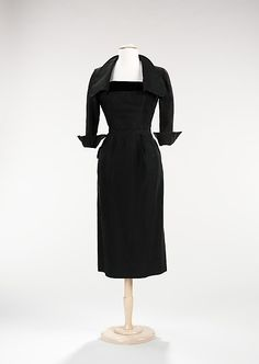 Cocktail Dress  Attributed to Jean Dessès (French, born Eqypt, 1904–1970)  Date: ca. 1952 Culture: French Medium: silk