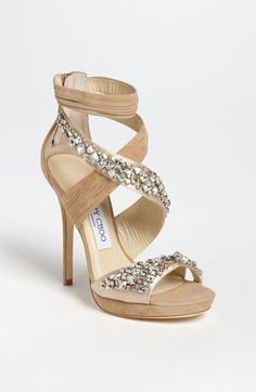 Pretty please yes! These Jimmy Choo's would make my legs look so long with a cute little dress! #jimmychoo #sparkle #wedding