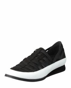 Move In Strappy Elastic Sneaker, Black by Stuart Weitzman at Bergdorf Goodman.