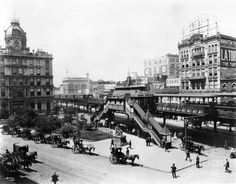Nyc: Greeley Square, 1898 by Granger New York City Manhattan, Broadway Nyc, Old And New, Vintage Photos, Paris Skyline, Times Square, Street View, Savings Bank, History