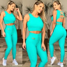 Cropped Lady Brocado Verde Tops For Leggings, Sports Leggings, Tights Outfit, Leggings Fashion, Womens Workout Outfits, Sport Outfits, Love Fitness, Workout Attire, Athletic Outfits