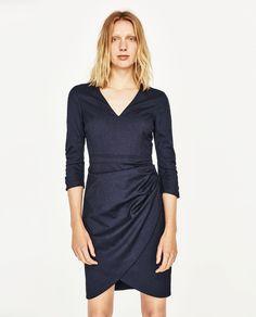 DRAPED SHIFT DRESS-DRESSES-WOMAN | ZARA United States