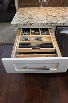 Kitchen Remodel, Medina, OH  #1 ~ Waypoint Cabinets traditional cabinet and drawer organizers