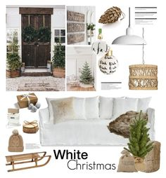 """White Christmas"" by barngirl ❤ liked on Polyvore featuring interior, interiors, interior design, home, home decor, interior decorating, Jamie Young, Pottery Barn, Kate Spade and Pier 1 Imports"