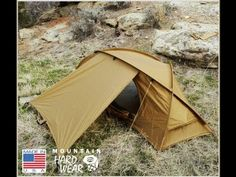 Mountain Hardwear Hunker 4 Season Tent (If we ever end up being experienced enough to tackle winter camping, something like this is on the gear list. Bushcraft Camping, Backpacking Gear, Camping And Hiking, Camping Survival, Outdoor Survival, Hiking Gear, Tent Camping, Camping Gear, Outdoor Camping
