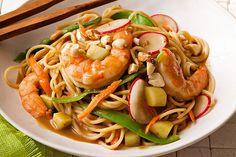 Asian Shrimp & Vegetable Pasta Stir-Fry Recipe
