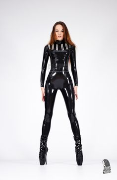 Womans fashion Catsuits made in natural rubber latex