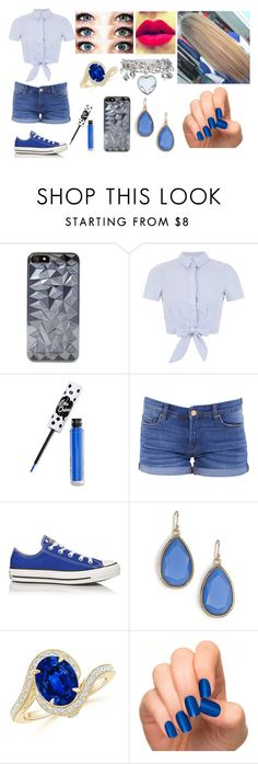 """""""Look#66"""" by allicefaleta ❤ liked on Polyvore featuring moda, Miss Selfridge, Lime Crime, BLANKNYC, Converse e Kate Spade"""