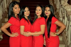 For Buddha-Bar Hotel Budapest Klotild Palace Birthday Bash, Nouba hostesses welcoming guests for this special occasion!
