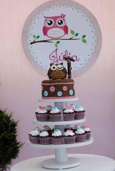 Torre cupcakes coruja manoelaj@gmail.com
