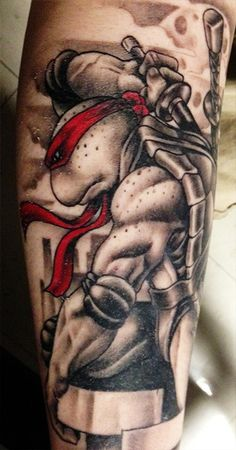 Muito loca, Raphael tartarugas Ninja, tattoo!