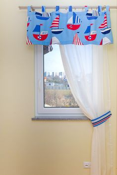 Komplet dekoracji okna do pokoju chłopca - realizacja miniroom.pl Valance Curtains, Home Decor, Homemade Home Decor, Valence Curtains, Interior Design, Home Interiors, Decoration Home, Home Decoration, Home Improvement