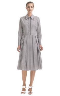 Marni Checked Pleated Dress
