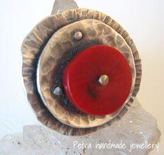 """""""Coral"""" anello argento 925 e corallo bambù di Petra Handmade Jewellery su DaWanda.com"""