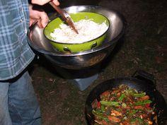 Adding Noodles to Stir-fry Dinner
