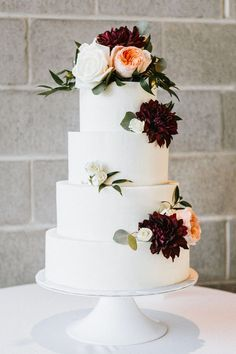 60 fantastic, elegant, chic wedding cakes design inspiration - Page 12 of 60 - LoveIn Home Wedding Cake Fresh Flowers, Fall Wedding Cakes, Wedding Cake Decorations, Elegant Wedding Cakes, Wedding Cake Designs, Wedding Cake Toppers, Chic Wedding, Cake With Fresh Flowers, Wedding Ideas