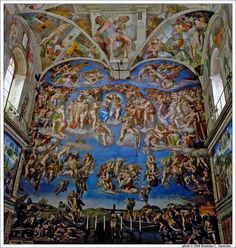 Michelangelo's 'The Last Judgment' at the Sistine Chapel     gotterdammerung.org