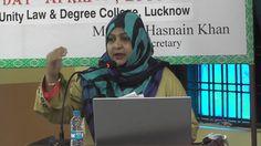 Dr. Farhat Nadir Rizvi of AKS College, Japla speaking at the Ali Day Sym...