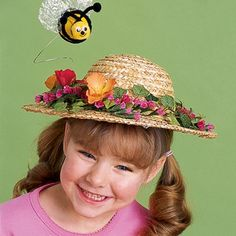 Crafts: Honey of a Hat crafts Easter Activities, Spring Activities, Easter Crafts For Kids, Easter Ideas, Black Fabric Paint, Pipe Cleaner Crafts, Pipe Cleaners, Spring Hats, Hat Crafts