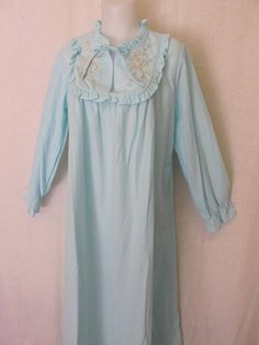 Old Fashioned Nightgown 1960 s Nightgown Long Sleeve Stay Warm b03558c24