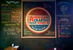 American Craft Beer Week Chalk Board at Tri-City Brewing Company.