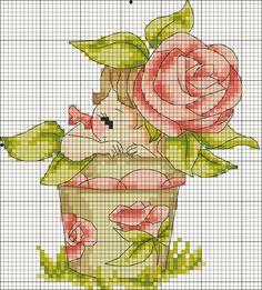 Bambina vaso di rose 1
