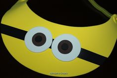 add foam stickers for minion eyes