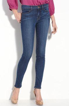 J Brand Mid-Rise Skinny Leg Jeans in Blue Bell