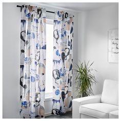 SILVERBUSKE Curtains, 1 pair - IKEA
