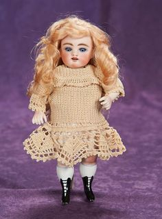"""8"""" (20 cm.) German All-Bisque Doll by Kestner Known as """"French Wrestler"""" 700/1000 Auctions Online 