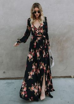 floral dress is the face of spring! – OWN RG by Lu K Vilar Floral Maxi Dress, Dress Up, Floral Dress Outfits, Chiffon Maxi Dress, Look Fashion, Autumn Fashion, Mode Abaya, Look Boho, Looks Chic