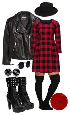 """""""Plus Size Punk"""" by orchidplus on Polyvore yooo i could easily toss this outfit…"""