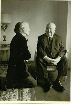 Andy Warhol & Alfred Hitchcock 1974