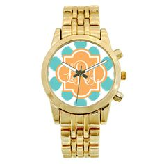 Personalized Gold Plated Boyfriend Watch - Ikat Funk #holidaygifts